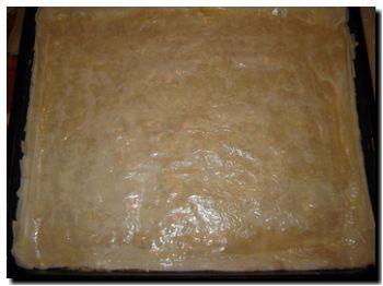 gibanica prije pečenja